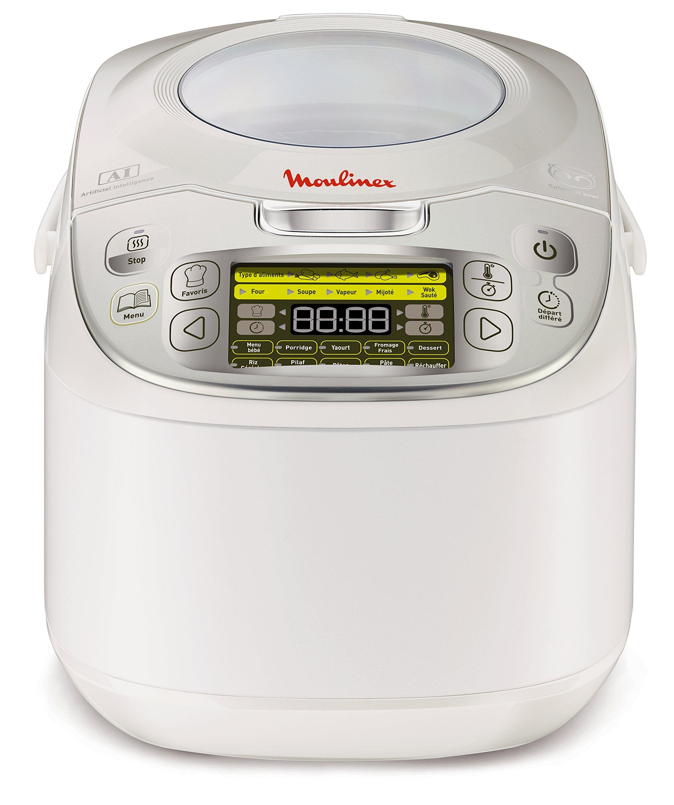 Moulinex MK812101 Multicuiseur Traditionnel 45-en-1 - 5 à 6 Personnes - Argent 5L product image