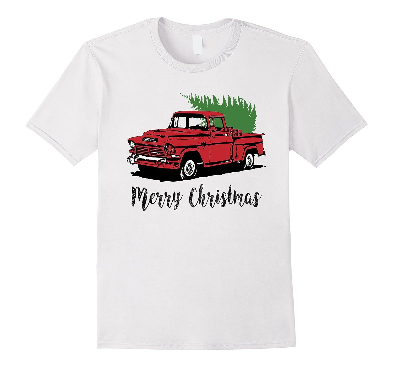 Merry Christmas Vintage Pickup Truck