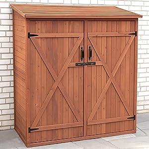 Leisure Season Medium Wood Storage Shed