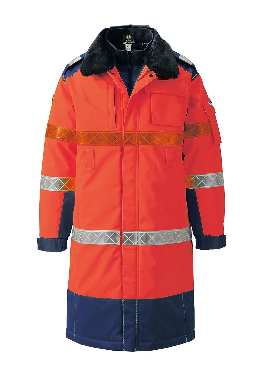 (ジーベック) XEBEC 全天候対応 高視認安全服 防水防寒ロングコート (803-xe) 【M~5Lサイズ展開】 B0163XW6A4 M オレンジ オレンジ M