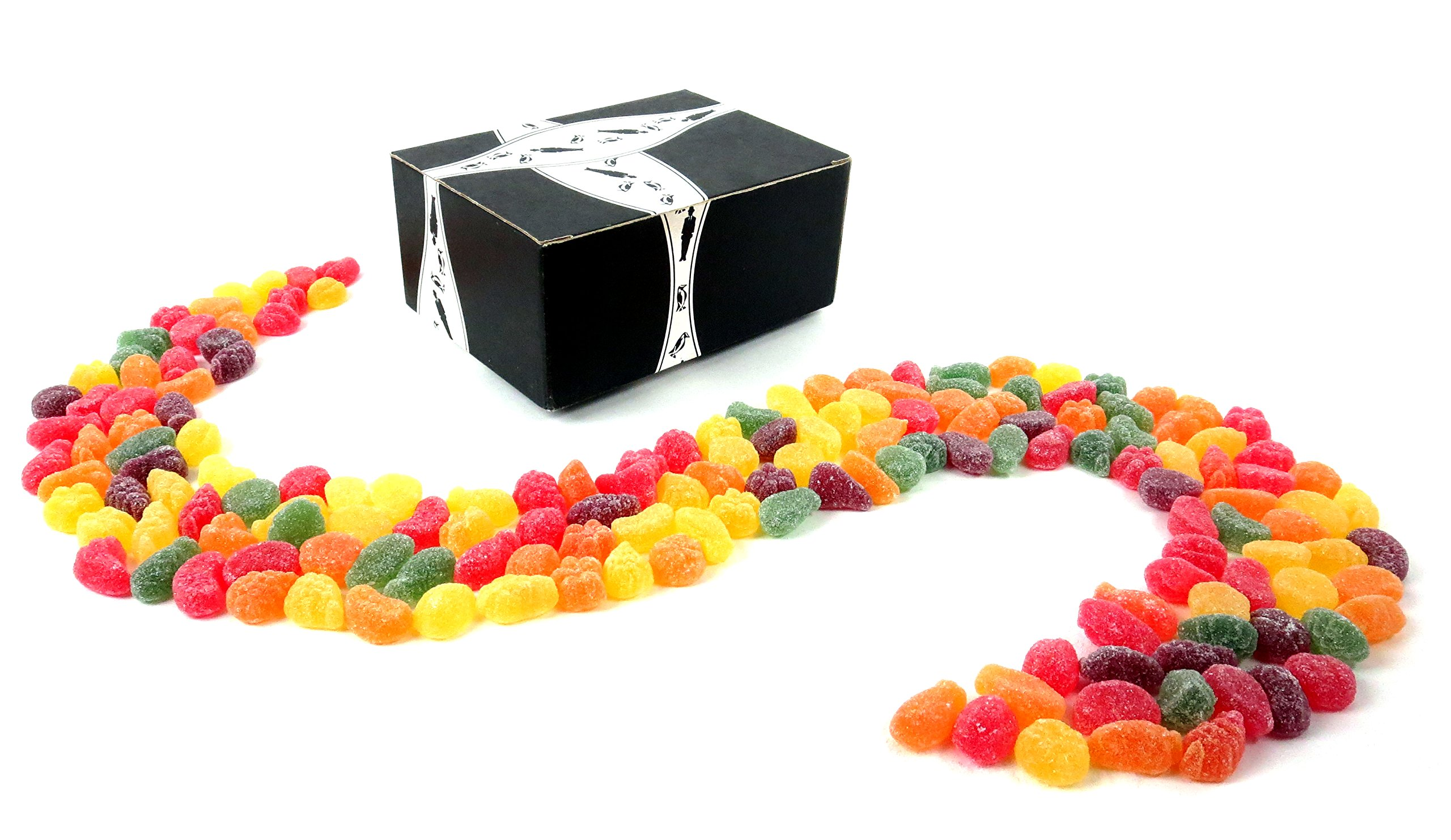 Gustaf's Fruit Salad Sanded Gummy Candy, 2.2 lb Bag in a BlackTie Box