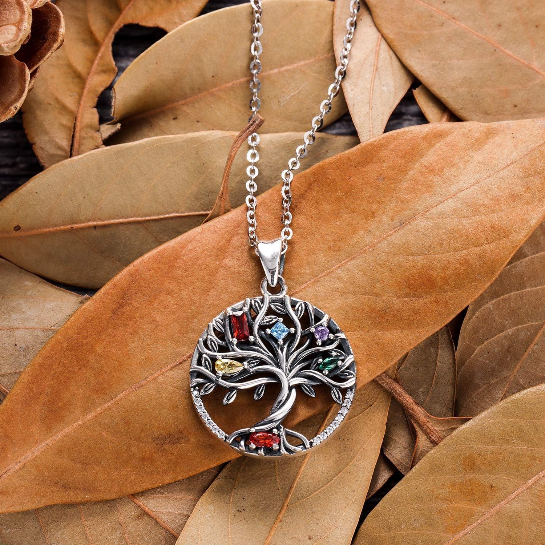 svp5021 925 Sterling Silver Hand Made Designer Pendant Jewelry Length 1.6 Tree Of Life Handmade Green Onyx Round Gemstone Pendant