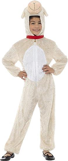 Smiffys Traje Disfraz de Cordero, niño, 7-9 años: Amazon.es ...