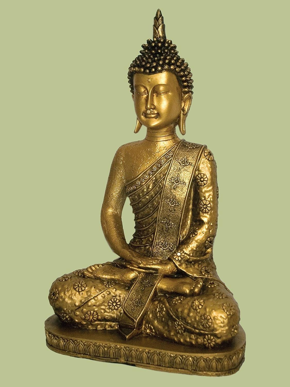 L73095 Buddha Sitting Meditation Pose 14 inch high