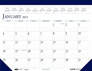 product image for House of Doolittle 1506 Two-Color Monthly Desk Pad Calendar, 18-1/2 x 13, 2015