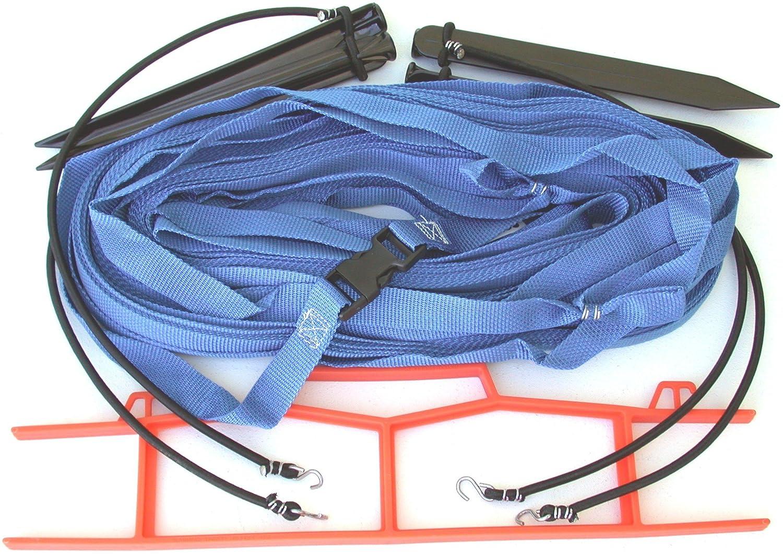 ホームCourt 1-inch non-adjustable 8-meter砂セットアップ境界 – m8 W25s ブルー