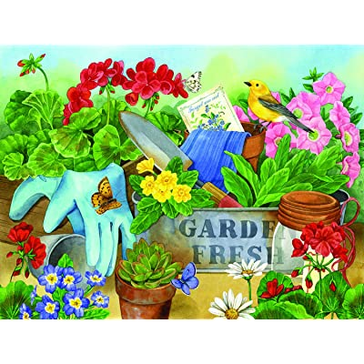 Gardener's Table 500 pc Jigsaw Puzzle by SUNSOUT INC: Toys & Games