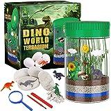 X TOYZ Terrarium Kit for Kids with 4 Dinosaur Egg Dig Bonus Toys, Create Your Own Customized Mini Dinosaur Garden, LED…