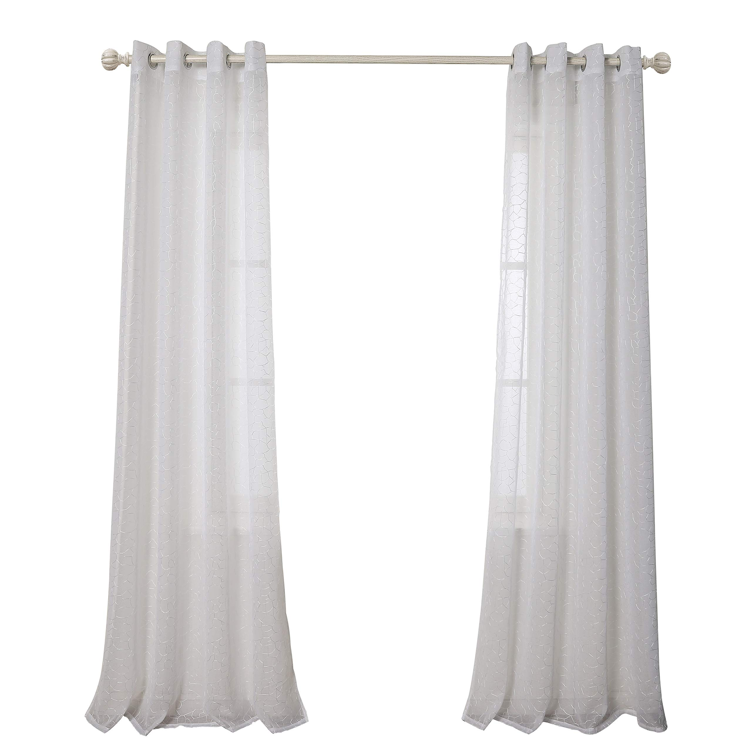 Living Room Curtains White: White Living Room Curtains: Amazon.com