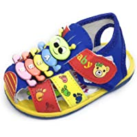 TeeniTiny Sandals for Baby Boy & Girl/Pre Walker Sandal/Whistle chu chu Sandals - Red, Green, Blue, Black, Yellow (6 Month - 2.5 Years)
