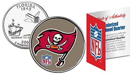 466cf739a Amazon.com: TAMPA BAY BUCCANEERS NFL Florida US Statehood Quarter ...