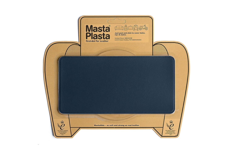 Mastaplasta - Parche de reparación de Piel Diseño: Liso, Azul Marino, de 20 x 10cm. DARKBLUEBANDAGE