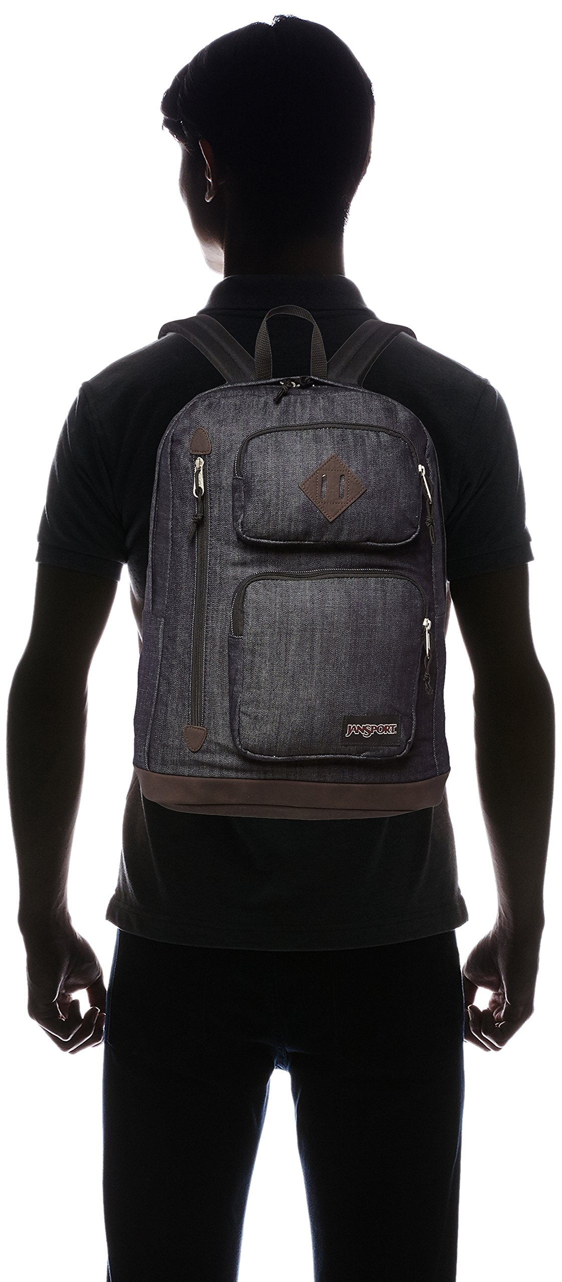 JanSport Houston Laptop Backpack- Discontinued Colors (Blue Denim - Expressions) by JanSport (Image #4)