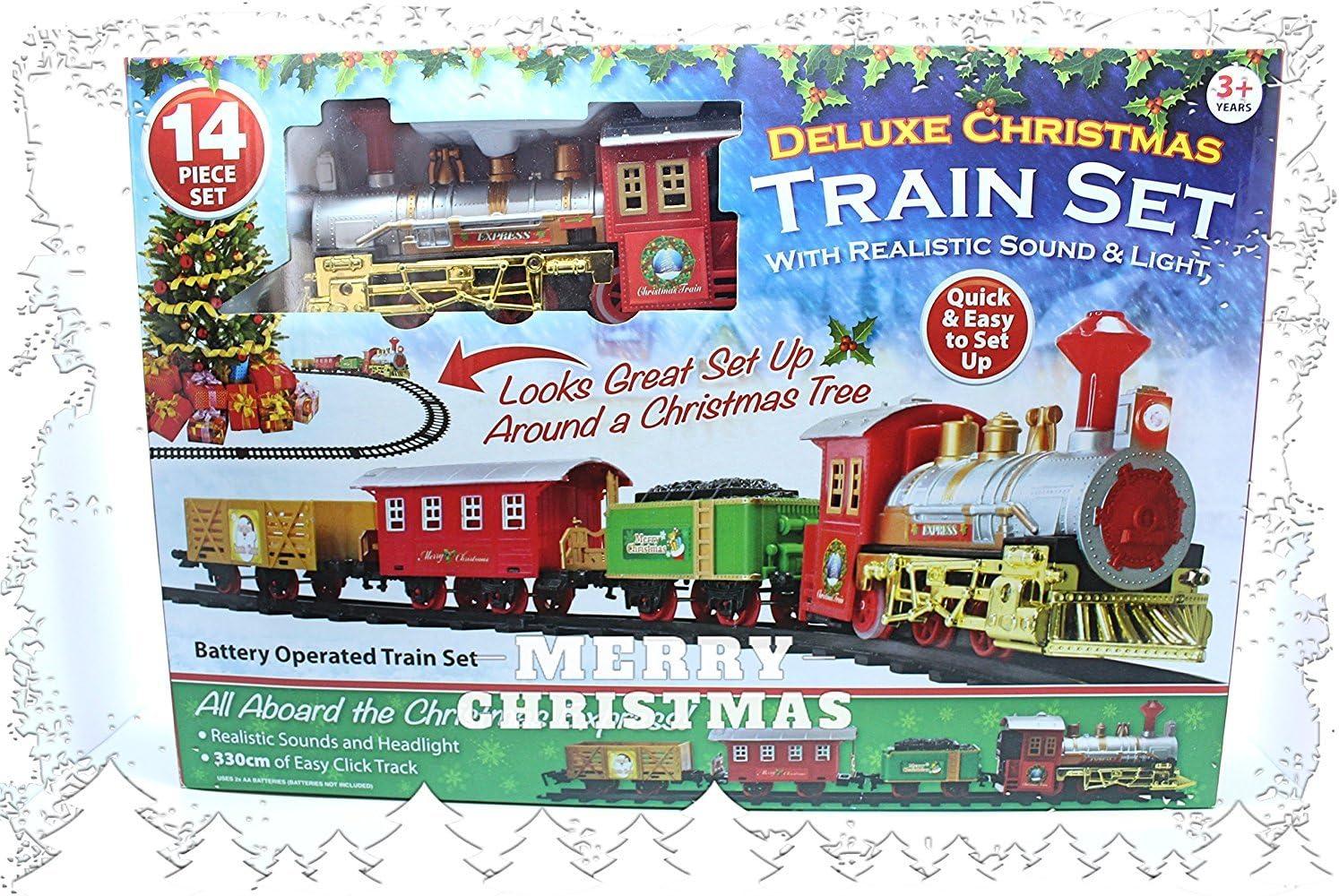 PMS Christmas Express - Tren de Navidad con Sonido Realista y Luces, Mezclado, tamaño único