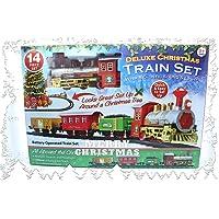 PMS Christmas Express set treno a batteria con realistico suono e luci, misti, taglia unica