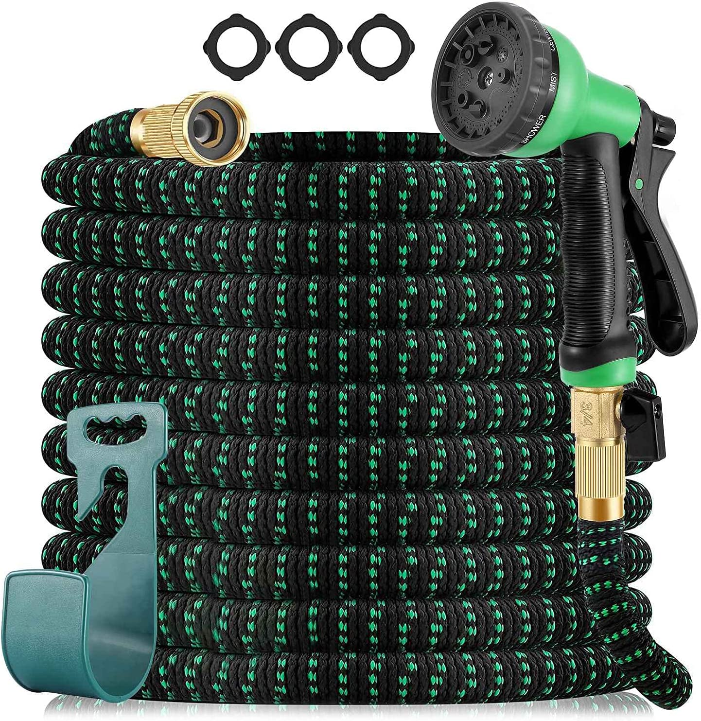 Expandable Garden Hose,50FT Upgraded Lightweight Hose Pipe 3 Layers of Latex, 3/4