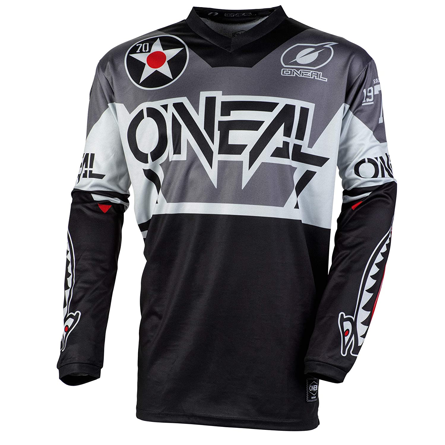 ONeal Element Warhawk Adult Jersey Black//Gray, XXL