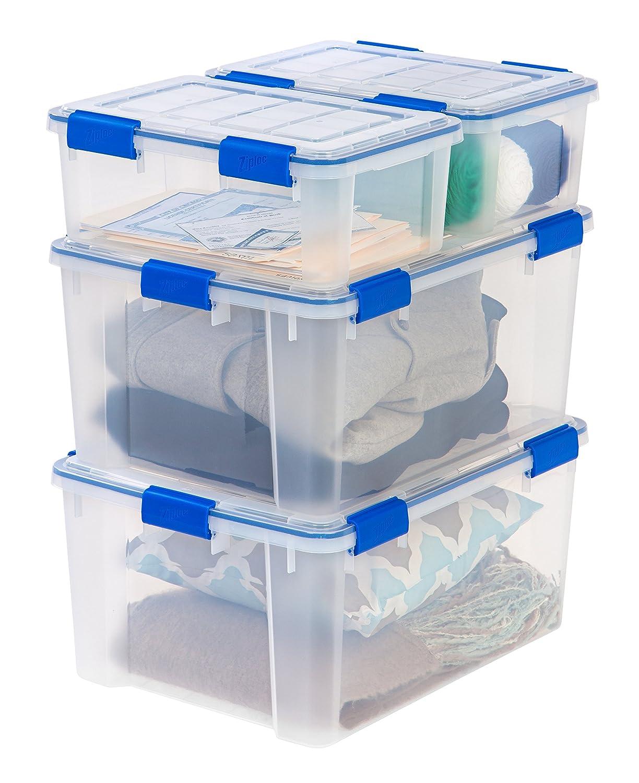 Beautiful Amazon.com: Ziploc WeatherShield 16 And 60 Quart Storage Box, 4 Pack,  Clear: Home U0026 Kitchen