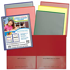 C-Line Products CLI32000 Classroom Connector School-to-Home Folder, Colors, Assorted (Pack of 36)