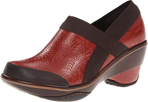 Amazon.com | Jambu Womens Cali Embossed Clog, Red, 6.5 M US | Mules & Clogs