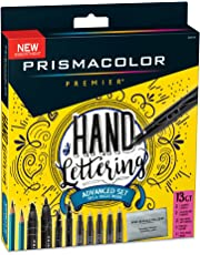 Prismacolor 1738850 Premier marcadores de ilustración, punta de cincel, negro, 1 unidad, Negro, Advanced Hand Lettering Set