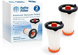 Fette Filter - Vacuum Filter Compatible with E2 Style. Compare to Part # EF144 and EL65521. (Pack of 2)