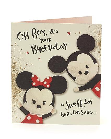 je 2/St/ück Motiv Minni Baby Disney Geschenkpapier und Geschenkk/ärtchen