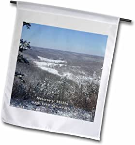 Sandy Mertens Arkansas - Snowy Hills of the Ozarks - 12 x 18 inch Garden Flag (fl_57557_1)