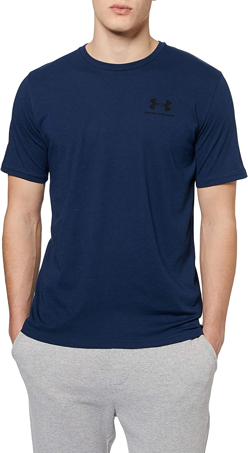 Academy//Black Super Soft Mens T Shirt for Training and Fitness Fast-Drying Mens T Shirt with Graphic Men 408 Under Armour Sportstyle Left Chest Blue L