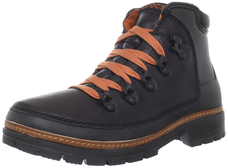 4f31099a559 Crocs - Men Cobbler Hiker Boot Shoes, UK: 6 UK, Black/Black: Amazon ...