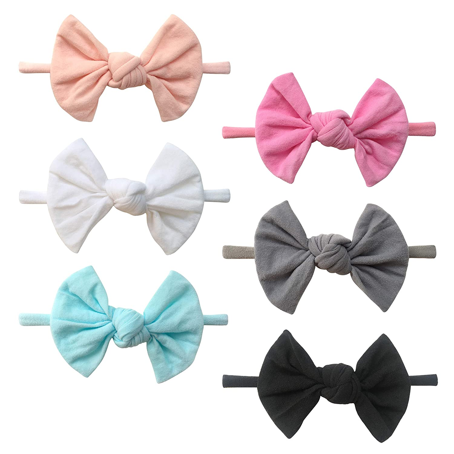 Baby Super Soft Nylon Headbands And Bows, Hair Accessories For Newborn Girls