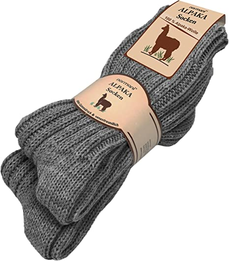 risparmi fantastici scegli il più recente 2019 autentico 2 paia di calze invernali in pura lana di alpaca fibra natur ...