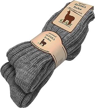 2 pares alpaca Invierno Calcetines de fibra natural pura 100% Alpaca lana de oveja antracita Talla:35/38: Amazon.es: Deportes y aire libre