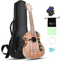 Concert Ukulele 23 inch Hricane Sapele Ukeleles For Beginners Hawaiian Ukele with Ukulele Case and Ukele Strings Set