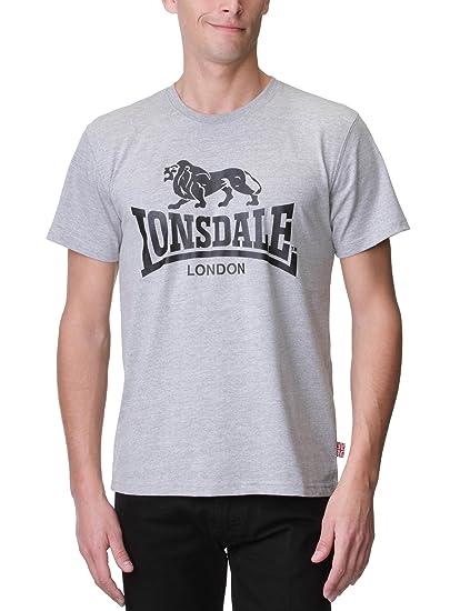 Lonsdale T-Shirt Logo Ropa Interior de Deporte para Hombre: Amazon ...