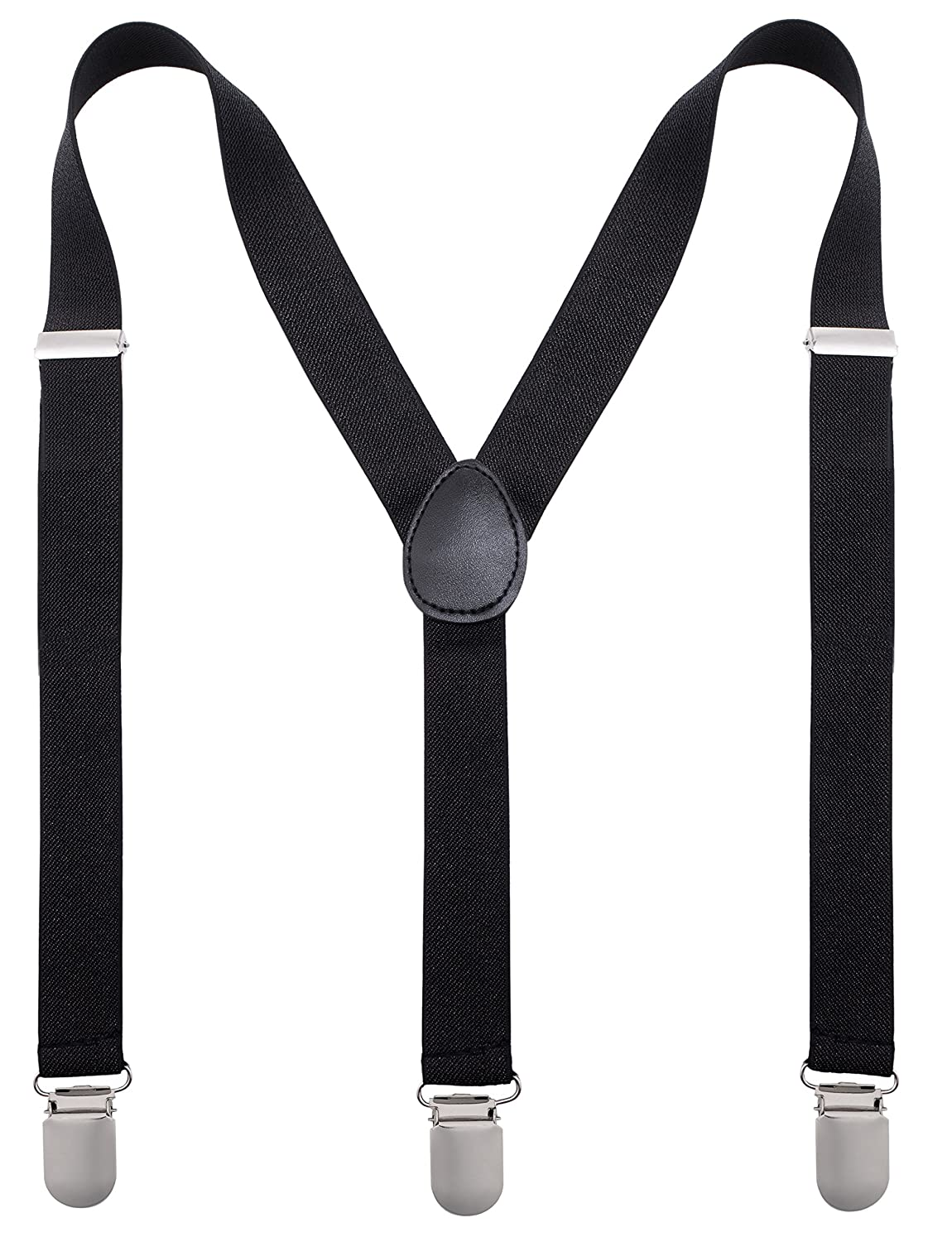 34981b7aa5a Amazon.com  Bowtie   Suspender Sets - Glitter Suspenders   Metallic Bow Tie  - Black  Clothing