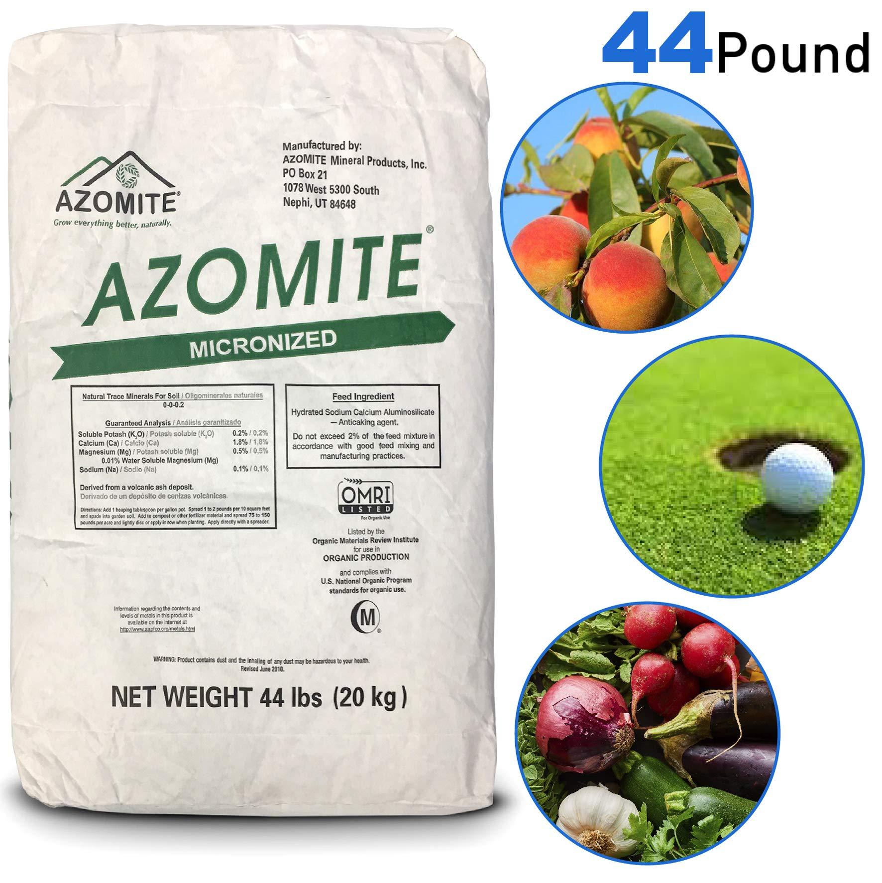 Azomite AZOMITE-44-1 Azomite-44A Bag Micronized Bag-100% Natural 44 lb, White by Azomite