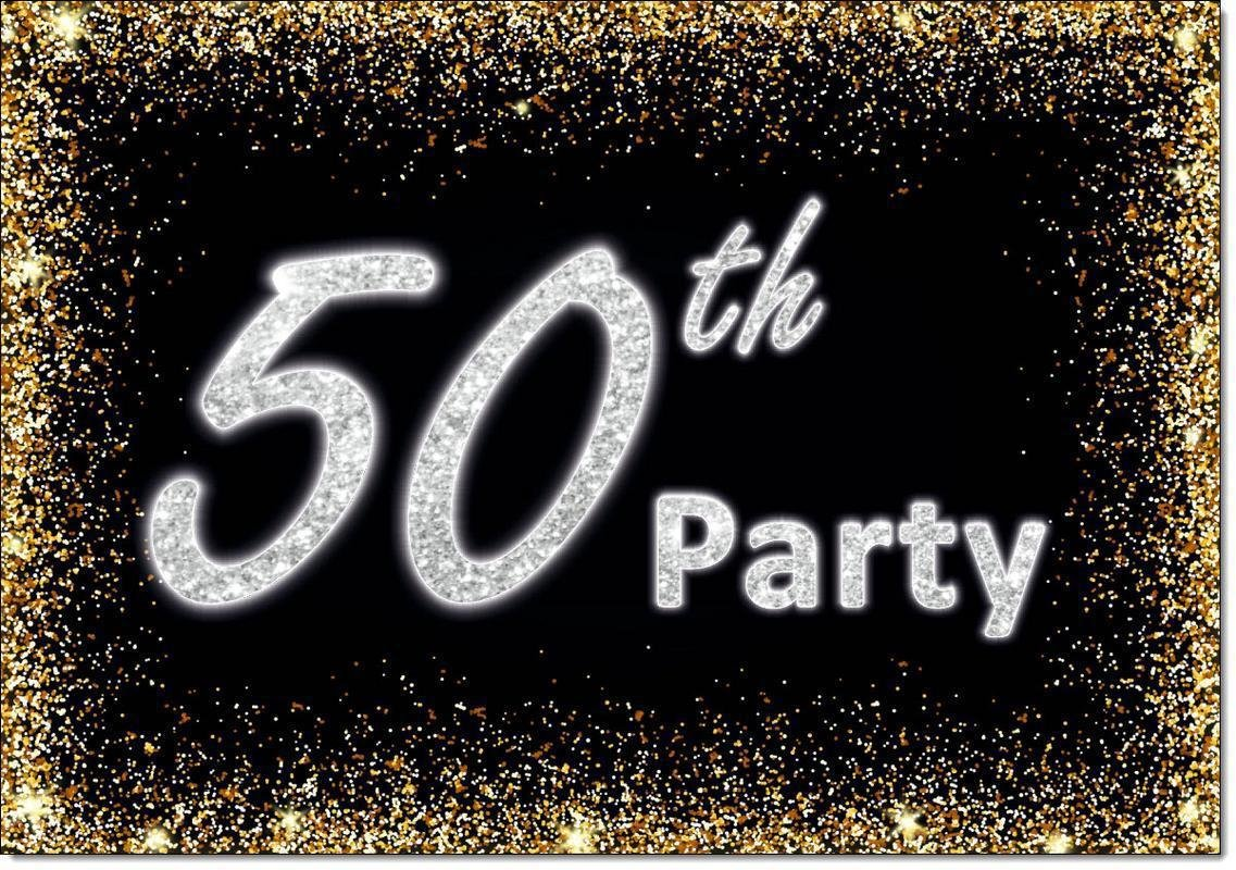 50th Birthday Party Invitations Age 50 Male Mens Female Womens Pack 20 Invites Doodlecards