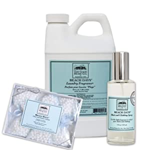 The Good Home Fragrance Fabric Softener 64 Oz, Sheet and Clothing Linen Spray 4 Oz, Closet and Drawers Sachets 0.5 Oz Beach Days, Improves Sleep, Refreshes Clothes and Linen All-Natural Freshener