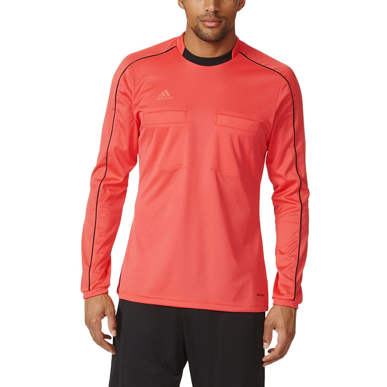 adidas Men's Ref16 ong Seeve Jersey, Shock Yeow/Back,/G