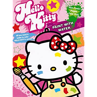 Sanrio 18261 Hello Kitty Paint with Water Book Rainbow: Toys & Games