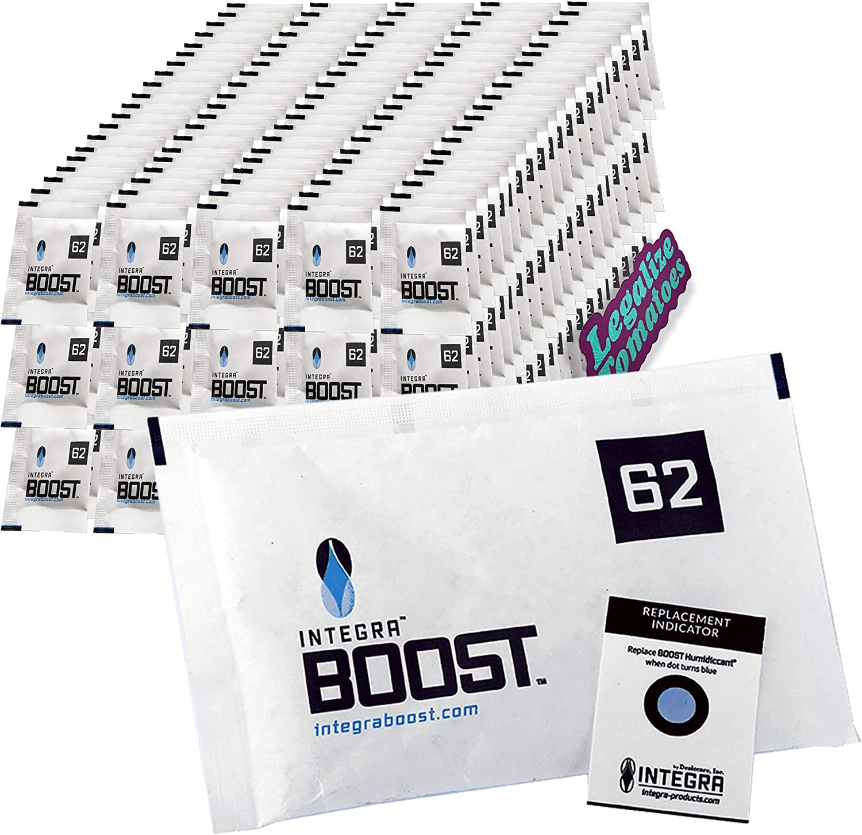 4 Gram - 6 Packets Integra Boost RH 62/% 2 Way Humidity Control Twin Canaries Chart