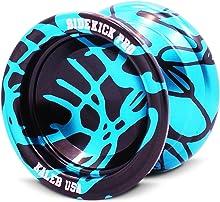 Sidekick Yoyo Pro Reverse Splashes Responsive Professional Yo-Yo (Light Blue & Black)