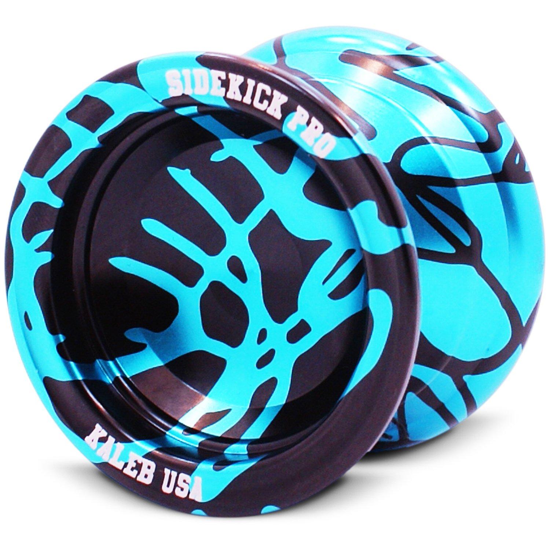 Sidekick Yoyo Pro Light Blue & Black Reverse Splashes REsponsive Professional Yo-Yo