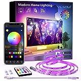 TV Led Backlight, ViLSOM 8.2ft Bluetooth App Control Led Lights for TV PC 32-60inch, Music Sync with Remote USB Led Strip Lig