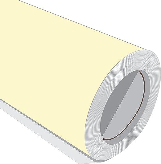3 Metre (3 m) rollo de HD crema mate 610 mm de ancho Vinilo ...