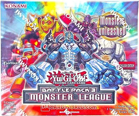 Konami Yu-Gi-Oh Battle Pack 3: Monster League Booster Box: Amazon.es: Juguetes y juegos