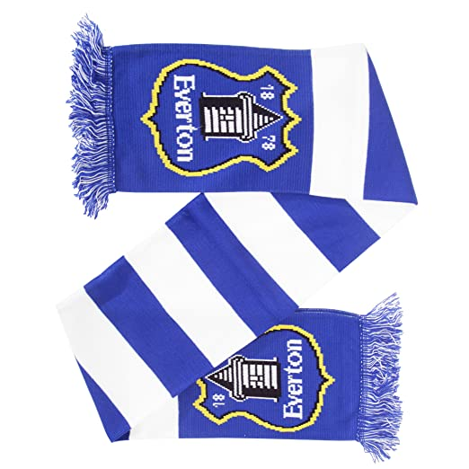 new arrival 587a4 df038 Everton FC Official Knitted Football Bar Scarf (One Size ...