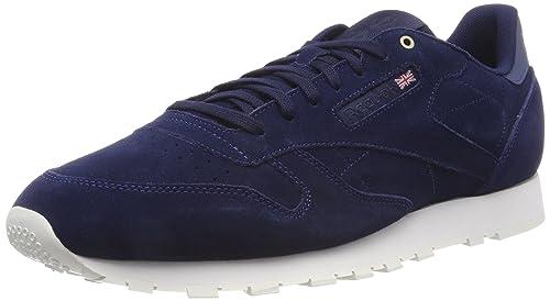 0e6ce26eed8 Reebok Men s Cl Leather MCC Gymnastics Shoes Purple Blue (Blue Note Chalk  Blue Note