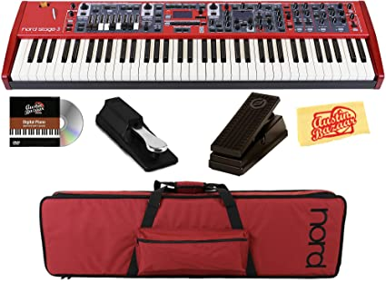 Nord Stage 3 Compact Keyboard Bundle with Nord GB73 Gig Bag, Expression  Pedal, Sustain Pedal, Austin Bazaar Instructional DVD, and Polishing Cloth